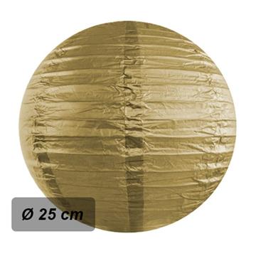 Obrázek Lampion kulatý 25 cm zlatý