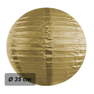 Obrázek Lampion kulatý 35 cm zlatý