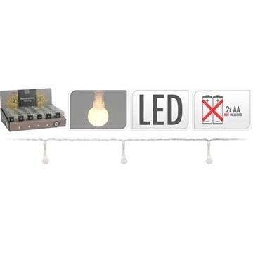 Obrázek Dekorační řetez se světýlky - kapičky 20 LED