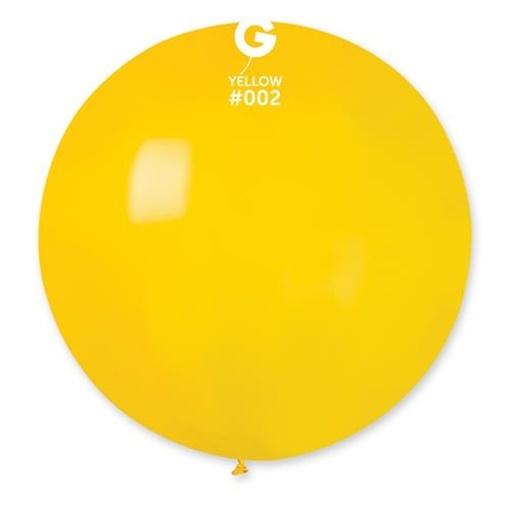 Obrázek z Balon jumbo žlutý 100 cm
