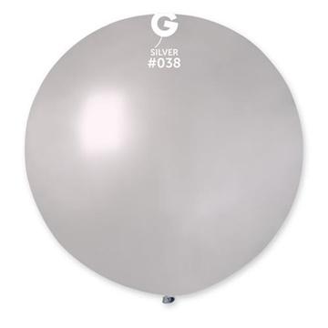 Obrázek Balon jumbo stříbrný 100 cm