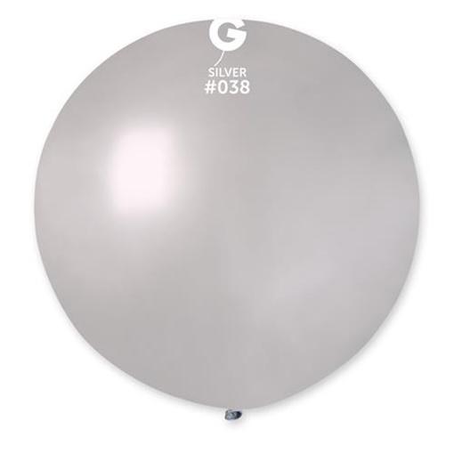 Obrázek z Balon jumbo stříbrný 100 cm