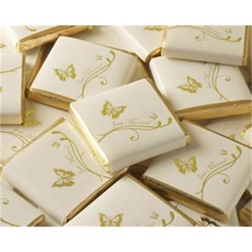 Obrázek Svatební čokoládka - zlatá Just Married Motýlek