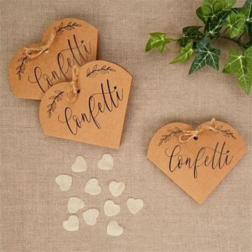 Obrázek Papírové konfety srdce v ozdobné krabičce