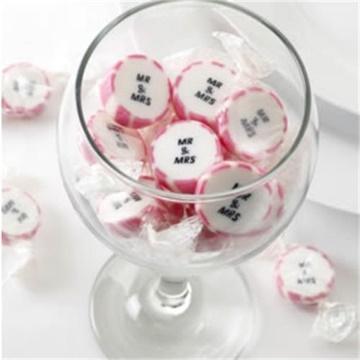 Obrázek Svatební bonbon Mr a Mrs - růžový