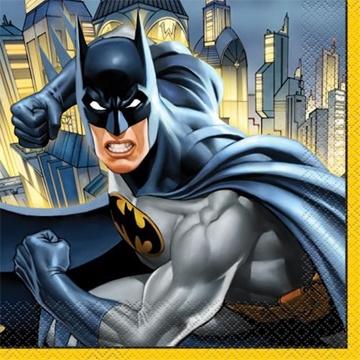 Obrázek Papírové party ubrousky Batman 16 ks