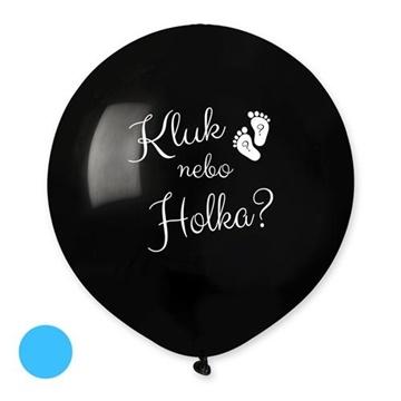 Obrázek Balonek Kluk nebo holka? CZ - 50 cm - modrá náplň