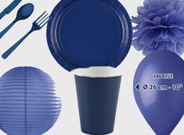 Obrázek pro kategorii Party dekorace a stolování - tmavě modrá barva