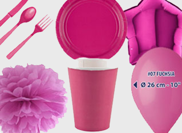 Obrázek pro kategorii Party dekorace a stolování - tmavě růžová barva
