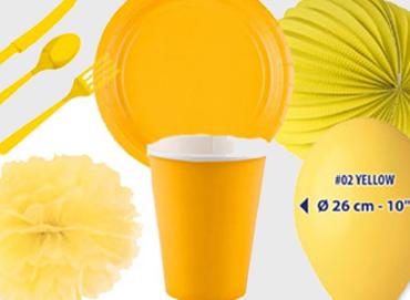 Obrázek pro kategorii Party dekorace a stolování - žlutá barva