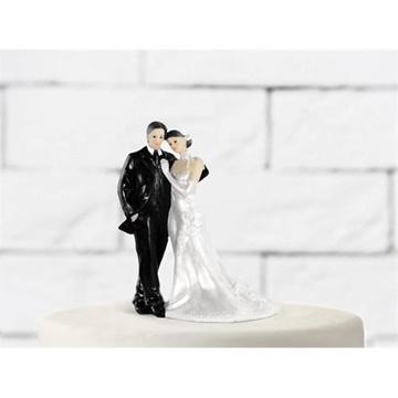 Obrázek Svatební figurky na dort - ženich a nevěsta 11 cm