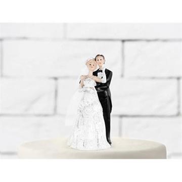 Obrázek Svatební figurky na dort - v objetí 11 cm