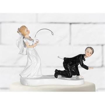 Obrázek Svatební figurky na dort - ženich na háčku 11 cm