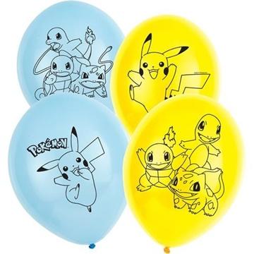 Obrázek Latexové balonky Pokemon 6 ks