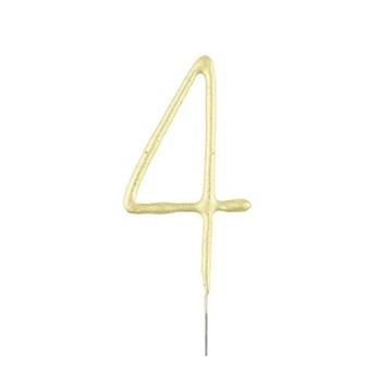 Obrázek Ozdoba na dort - prskavka číslice 4