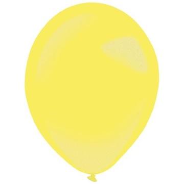 Obrázek Dekorační balonek metalický žlutý 35 cm