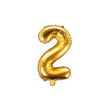 Obrázek Foliová číslice - zlatá 2 - 35 cm