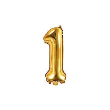 Obrázek Foliová číslice - zlatá 1 - 35 cm