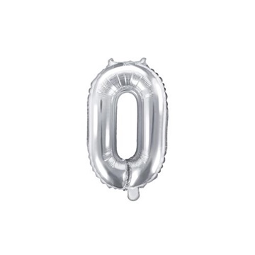 Obrázek Foliová číslice - stříbrná 0 - 35 cm
