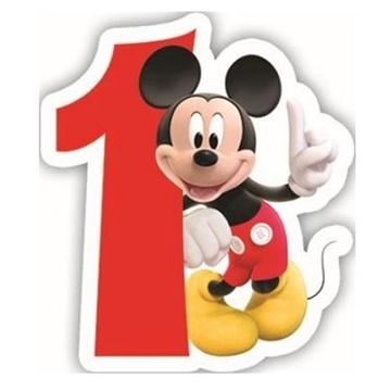 Obrázek Dortová svíčka Mickey Mouse 1st birthday