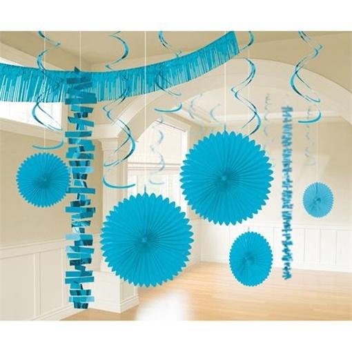 Obrázek z Dekorační party sada světle modrá 18 ks