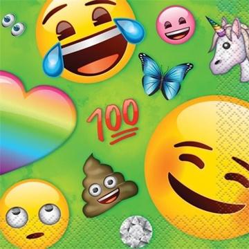 Obrázek Papírové party ubrousky Emoji malé 16 ks