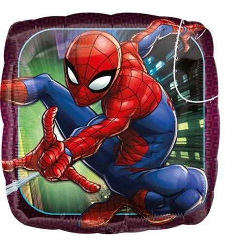 Obrázek z Foliový balonek čtverec Spiderman 43 cm
