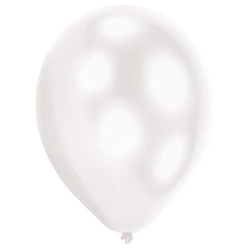 Obrázek z Dekorační LED svíticí balonky bílé 28 cm - 5 ks