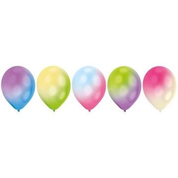 Obrázek Dekorační LED svíticí balonky - barevné světlo 28 cm - 5 ks