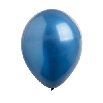 Obrázek Dekorační balonky metalické navy blue 28 cm - 50 ks