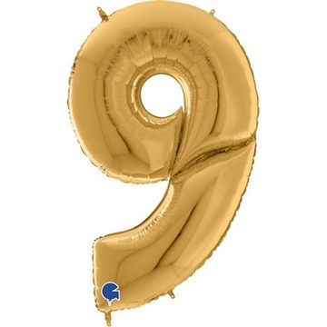 Obrázek Foliová číslice - zlatá 9 - 163 cm