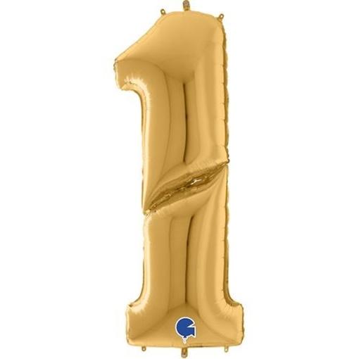 Obrázek z Foliová číslice - zlatá 1 - 163 cm