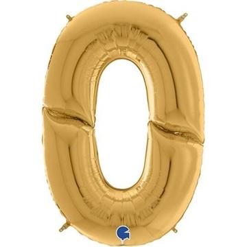 Obrázek Foliová číslice - zlatá 0 - 163 cm