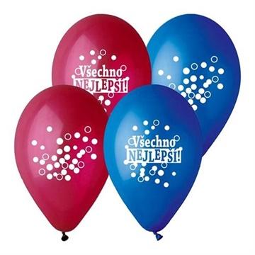 Obrázek Latexový balonek Všechno nejlepší 30 cm
