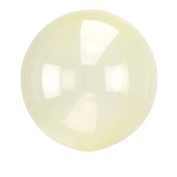 Obrázek Dekorační bublina průhledná žlutá 51 cm