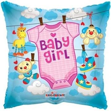 Obrázek Foliový balonek pillow obleček - holka 46 cm