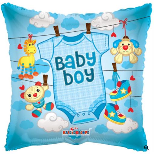Obrázek z Foliový balonek pillow obleček - kluk 46 cm