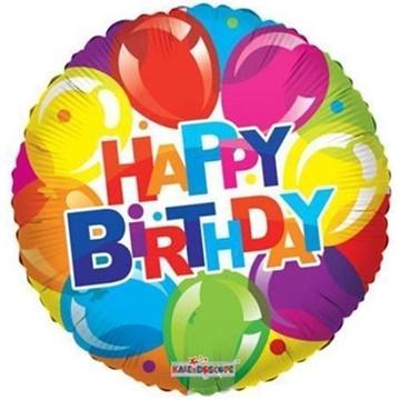 Obrázek Foliový balonek balonkový - Happy Birthday 46 cm