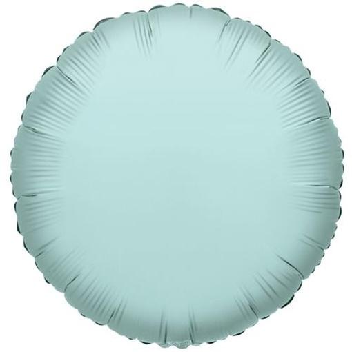 Obrázek z Foliový balonek kruh mátově zelená 46 cm