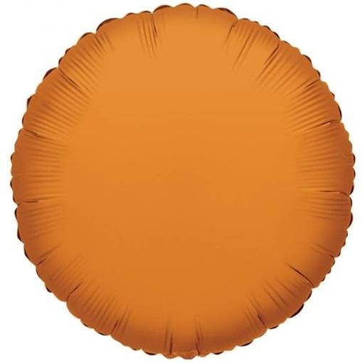 Obrázek z Foliový balonek kruh oranžová 46 cm