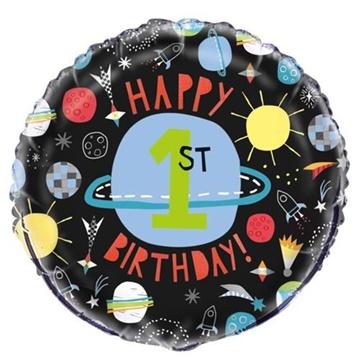 Obrázek Foliový balonek Happy 1st Birthday 45 cm