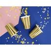 Obrázek z Papírové party kelímky metalické zlaté 6 ks