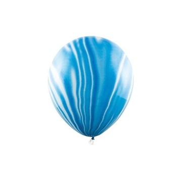 Obrázek Latexový balonek Mramorový modrý 6 ks
