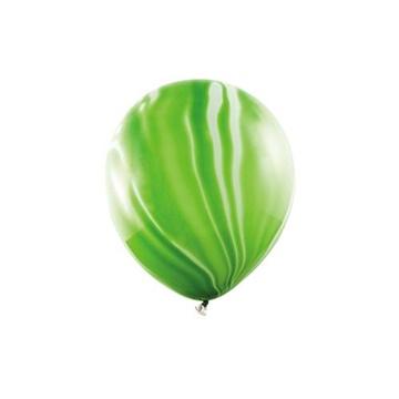 Obrázek Latexový balonek Mramorový zelený 6 ks