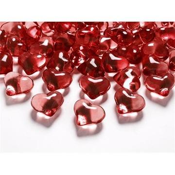 Obrázek Diamantové konfety červené srdce 21 mm
