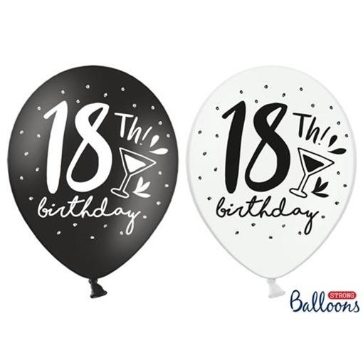 Obrázek z Latexový balonek 18th Birthday 6 ks