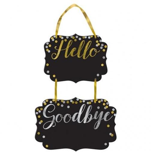 Obrázek z Tabule s nápisem Hello a Goodbye