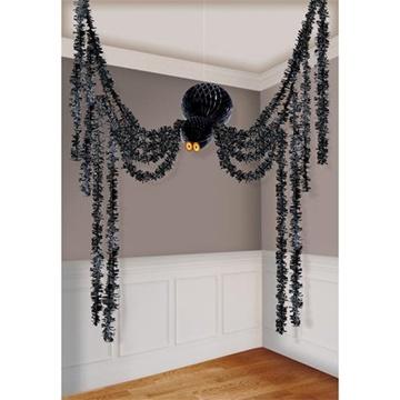 Obrázek Halloweenská závěsná dekorace pavouk 360 cm