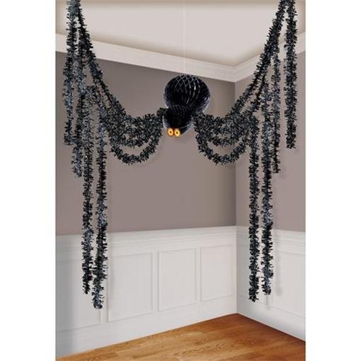 Obrázek z Halloweenská závěsná dekorace pavouk 360 cm