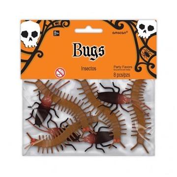 Obrázek Halloweenská dekorace šváby a housenky 8 ks